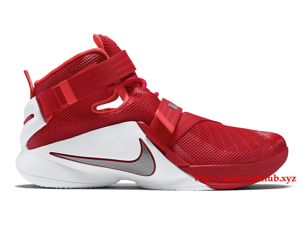 reputable site 65836 61296 Chaussures De BasketBall Homme Nike Lebron Soldier 9 TB EP Prix Pas Cher  Rouge Blanc