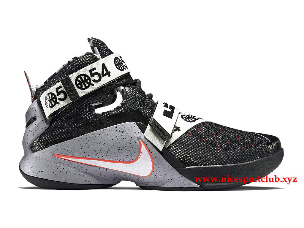 Chaussures De BasketBall Homme Nike Zoom LeBron Soldier 9 LMTD Prix Pas Cher  Blanc Gris 0a37984974ca
