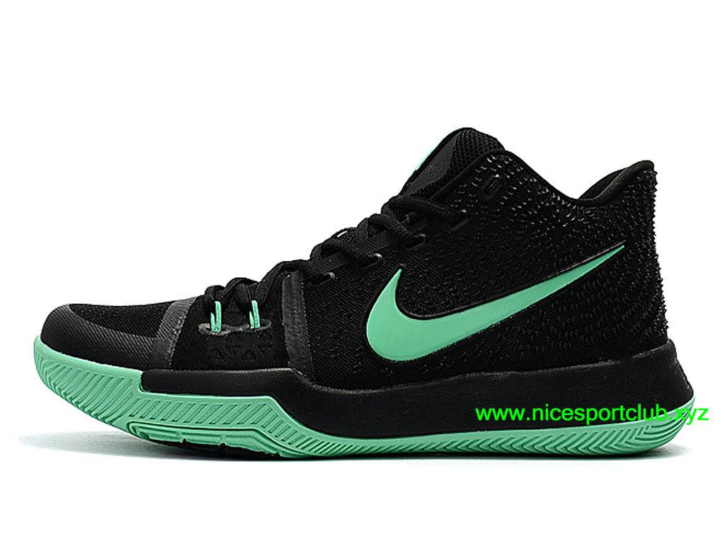 watch f8067 f2c86 Chaussures De BasketBall Nike Kyrie 3 ID Prix Pas Cher Pour Homme Noir Vert  852395 I015
